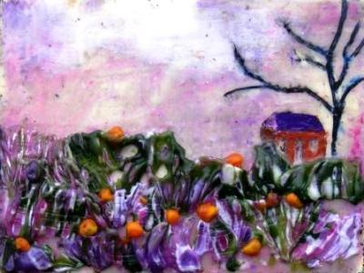 Farmhouse in Purple Haze
