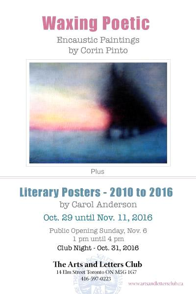 Encaustic Art by Corin Pinto at Arts and Letters Club Nov 2016