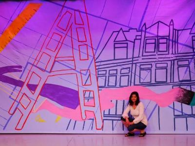 """Arts and Letters Club Toronto, Spring Revue Backdrop 2015 """"Vamp til Ready"""" by Corin Pinto"""